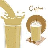 Διάνυσμα κινούμενων σχεδίων προγευμάτων παφλασμών φλυτζανιών καφέ διανυσματική απεικόνιση