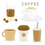 Διάνυσμα κινούμενων σχεδίων προγευμάτων φλυτζανιών καφέ διανυσματική απεικόνιση