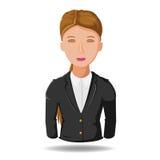 Διάνυσμα κινούμενων σχεδίων συμβόλων εργασίας επιχειρησιακών γυναικών διανυσματική απεικόνιση
