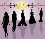 διάνυσμα κοριτσιών μόδας Στοκ Εικόνα