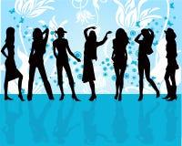 διάνυσμα κοριτσιών μόδας ελεύθερη απεικόνιση δικαιώματος