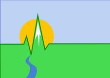 διάνυσμα κτύπου της καρδ&io Στοκ εικόνες με δικαίωμα ελεύθερης χρήσης
