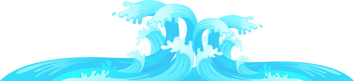 Διάνυσμα κυμάτων νερού ελεύθερη απεικόνιση δικαιώματος