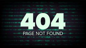 404 διάνυσμα λάθους βρήκε όχι τη σελίδα Απεικόνιση έννοιας αποτυχίας ιστοσελίδας υπολογιστών ελεύθερη απεικόνιση δικαιώματος