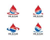 Διάνυσμα - λογότυπο πετρελαίου, αερίου και ενέργειας ελεύθερη απεικόνιση δικαιώματος