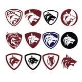 Διάνυσμα λογότυπων εικονιδίων λύκων στοκ φωτογραφία