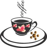 Διάνυσμα λογότυπων καφέ backgroung διανυσματική απεικόνιση
