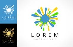 Διάνυσμα λογότυπων λεκέδων ελεύθερη απεικόνιση δικαιώματος