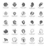 Διάνυσμα λογότυπων λιονταριών, εικονίδιο λογότυπων συμβόλων Στοκ Εικόνα
