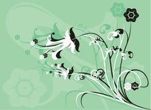 διάνυσμα λουλουδιών ανασκόπησης Στοκ Εικόνες