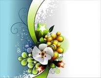 διάνυσμα λουλουδιών εμβλημάτων Στοκ φωτογραφίες με δικαίωμα ελεύθερης χρήσης