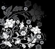 διάνυσμα λουλουδιών στοιχείων σχεδίου ανασκόπησης Στοκ Φωτογραφία