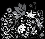 διάνυσμα λουλουδιών στοιχείων σχεδίου ανασκόπησης Στοκ Εικόνες