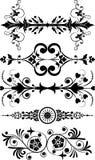 διάνυσμα λουλουδιών στοιχείων σχεδίου γωνιών Στοκ Εικόνα