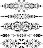 διάνυσμα λουλουδιών στοιχείων σχεδίου γωνιών Στοκ εικόνα με δικαίωμα ελεύθερης χρήσης
