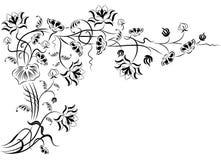 διάνυσμα λουλουδιών στοιχείων σχεδίου γωνιών Στοκ Εικόνες