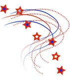 διάνυσμα λωρίδων αστεριών Στοκ Εικόνα