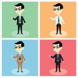 Διάνυσμα μασκότ επιχειρηματιών Απεικόνιση αποθεμάτων