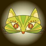 Διάνυσμα μασκών προσώπου γατών Στοκ εικόνες με δικαίωμα ελεύθερης χρήσης