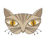 Διάνυσμα μασκών προσώπου γατών Στοκ εικόνα με δικαίωμα ελεύθερης χρήσης