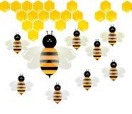 Διάνυσμα μελισσών στο άσπρο υπόβαθρο στοκ φωτογραφία με δικαίωμα ελεύθερης χρήσης