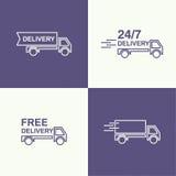 Διάνυσμα μεταφορών εμπορευμάτων απεικόνιση αποθεμάτων