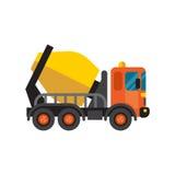 Διάνυσμα μηχανών εξοπλισμού βιομηχανίας τσιμέντου φορτηγών συγκεκριμένων αναμικτών απεικόνιση αποθεμάτων