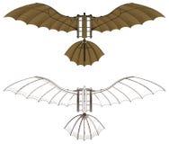 Διάνυσμα μηχανών πετάγματος Leonardo Da Vinci Στοκ φωτογραφία με δικαίωμα ελεύθερης χρήσης