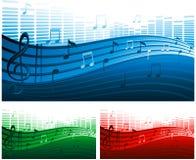 διάνυσμα μουσικής ανασκ Στοκ Εικόνα