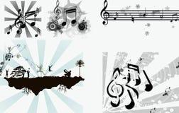διάνυσμα μουσικής Στοκ Εικόνες