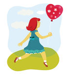 διάνυσμα μπαλονιών Στοκ Φωτογραφίες