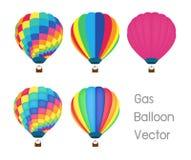 Διάνυσμα μπαλονιών αερίου διανυσματική απεικόνιση