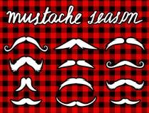 Διάνυσμα Νοεμβρίου Mustache καθορισμένο movember Στοκ εικόνα με δικαίωμα ελεύθερης χρήσης