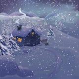 διάνυσμα νύχτας τοπίων Χρισ διανυσματική απεικόνιση