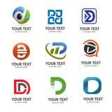 Διάνυσμα λογότυπων γραμμάτων Δ Στοκ Εικόνες