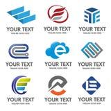 Διάνυσμα λογότυπων γραμμάτων Ε Στοκ Εικόνες