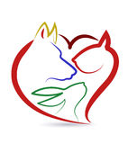 Διάνυσμα λογότυπων πουλιών και κουνελιών σκυλιών γατών απεικόνιση αποθεμάτων