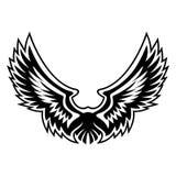 Διάνυσμα λογότυπων φτερών γραφικό Στοκ Φωτογραφίες