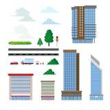 Διάνυσμα οικοδόμων πόλεων στοκ φωτογραφία με δικαίωμα ελεύθερης χρήσης