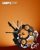 διάνυσμα ομιλητών κιθάρων απεικόνιση αποθεμάτων