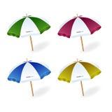 Διάνυσμα ομπρελών παραλιών στοκ εικόνες