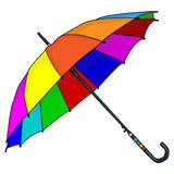 Διάνυσμα ομπρελών που απομονώνεται Στοκ Εικόνες