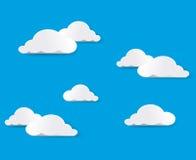 διάνυσμα ουρανού σύννεφω&n Στοκ Εικόνα