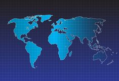 Διάνυσμα παγκόσμιων χαρτών, έννοια InfoGraphic, επίπεδος γήινος χάρτης για τον ιστοχώρο, ετήσια έκθεση, απεικόνιση παγκόσμιων χαρ διανυσματική απεικόνιση