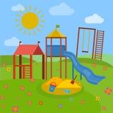 Διάνυσμα παιδικών χαρών παιδιών απεικόνιση αποθεμάτων