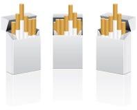 διάνυσμα πακέτων τσιγάρων Στοκ Εικόνες