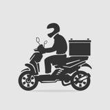 Διάνυσμα παράδοσης τροφίμων ποδηλάτων διανυσματική απεικόνιση