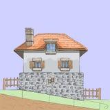 διάνυσμα Παραδοσιακό γαλλικό σπίτι πετρών στοκ εικόνες