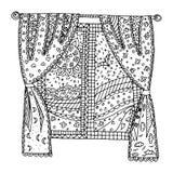 Διάνυσμα παραθύρων, σύγχυση παραθύρων zen, zen doodle Στοκ Εικόνες