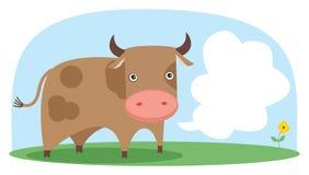διάνυσμα πεδίων αγελάδων Στοκ Εικόνα